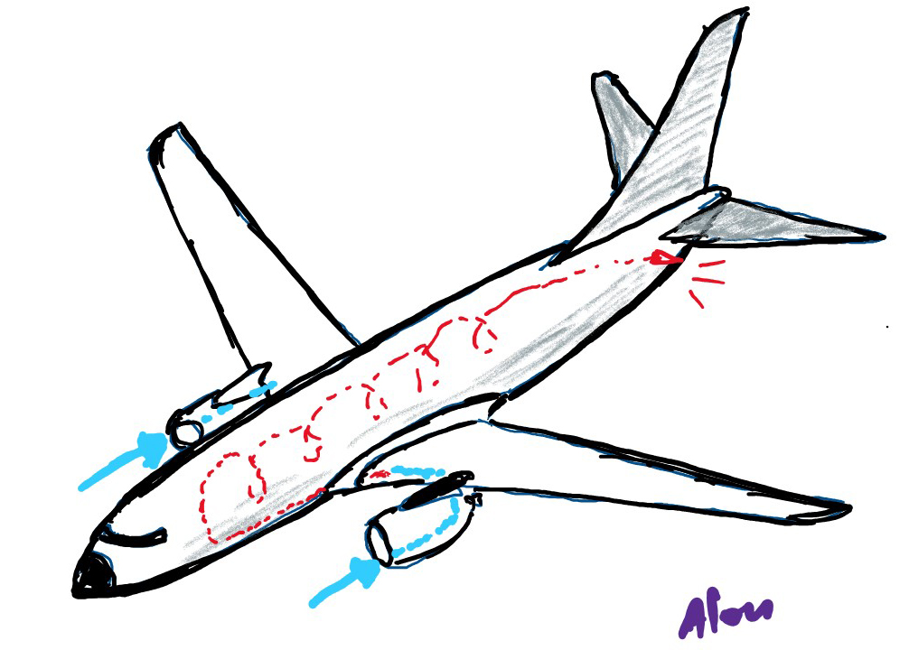 מאין מגיע האוויר לנשימה במטוס?