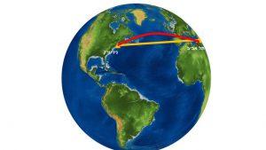 טיסה ארוכה של 12 שעות - למה לא טסים על הקו הצהוב, הרי הוא קצר יותר?