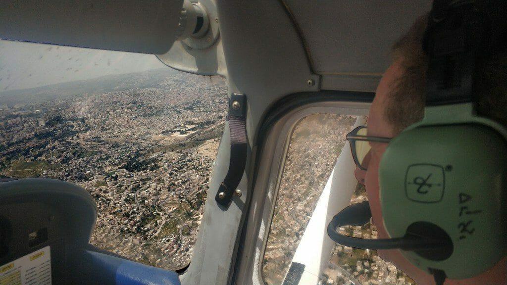 הר הבית בעיני טייס כדרך להתגבר על חרדת טיסה