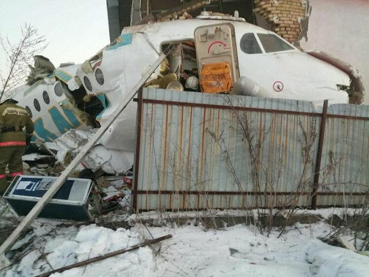 המטוס אחרי התאונה