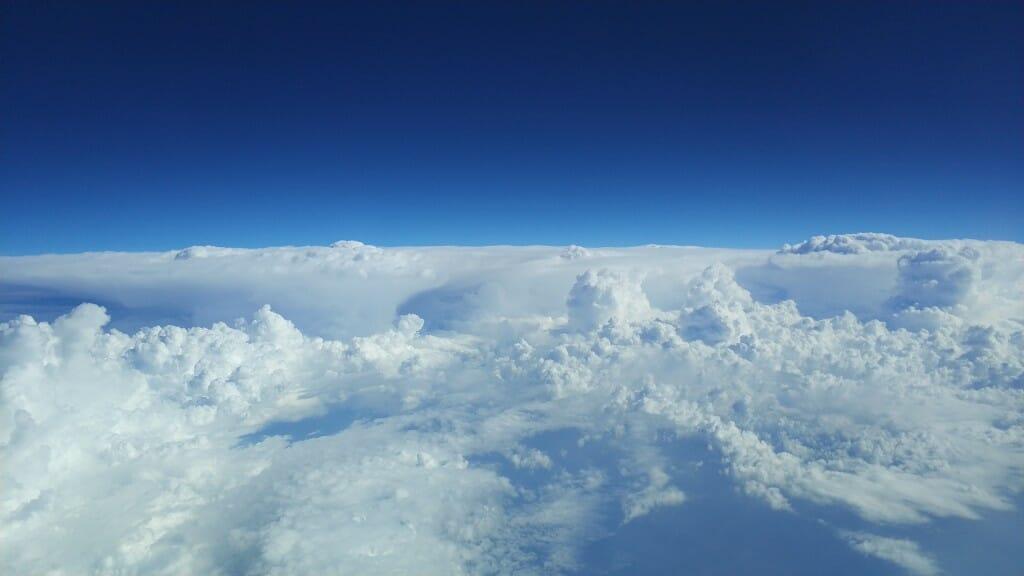 ענני סערה - מבט מלמעלה