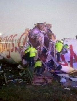 תאונת מטוס חריגה באיסטנבול